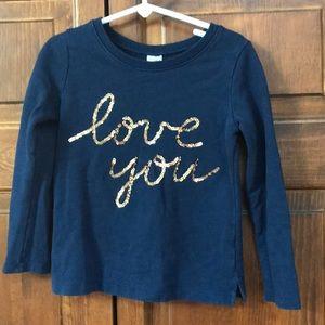 Sparkle sweatshirt, Carter's size 5
